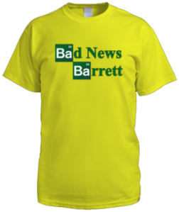 Bad News Barrett - Breaking Bad Logo (Male Shirt)