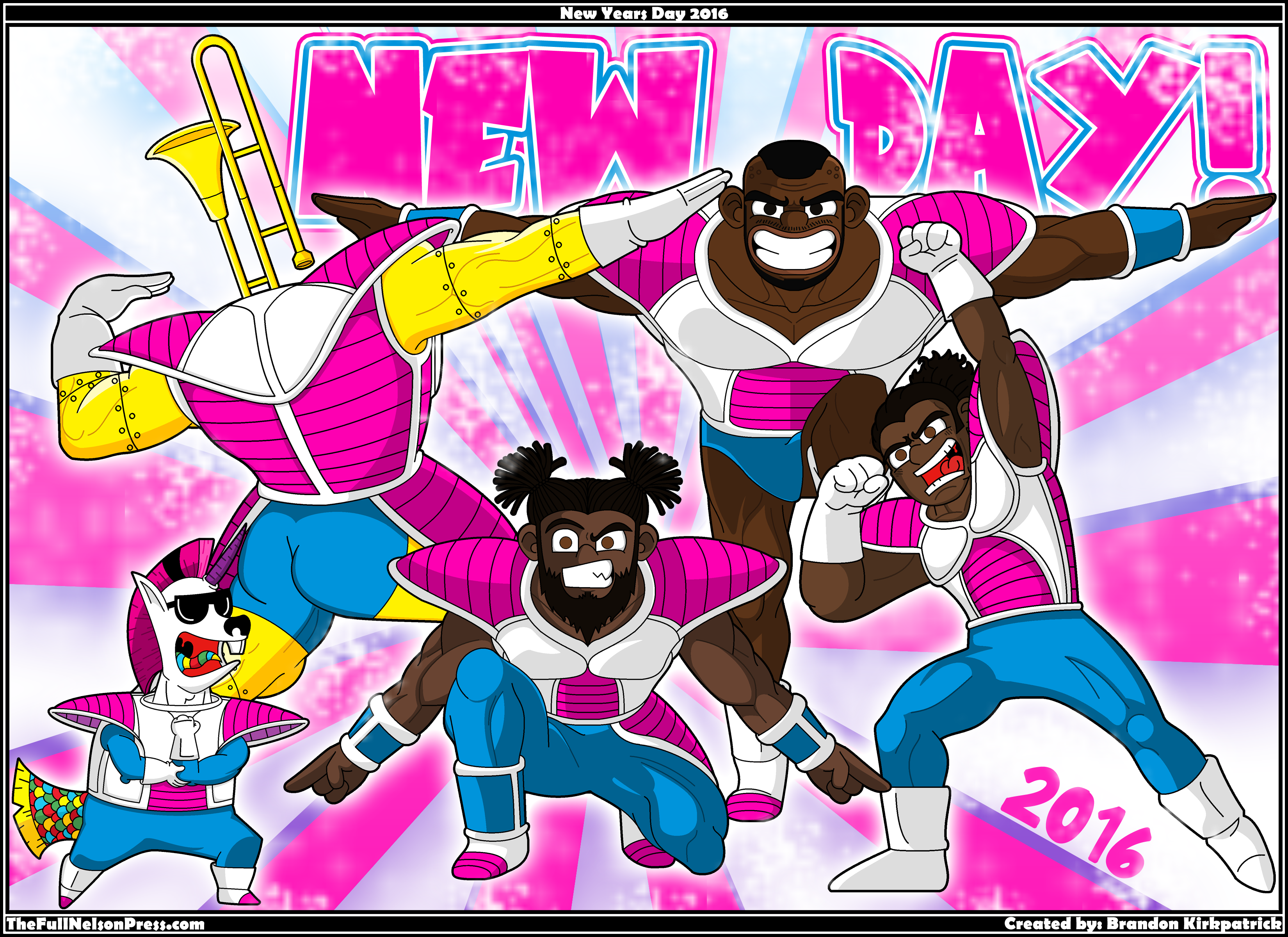 The New Day as the Ginyu Force from Dragon Ball : SquaredCircle